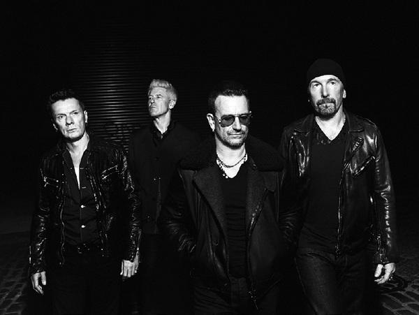 Larry Mulliins Jr., Adam Clayton, Bono & The Edge from U2 2014